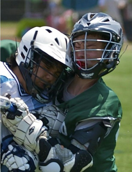 Lacrosse hit head to head kids illegal bodycheck penalty