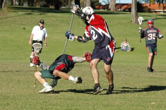 Dan Shields Bayswater Wanneroo Western Australia penalty lacrosse check