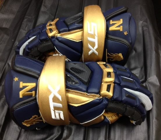 Navy 2012 STX Lacrosse Gear gloves