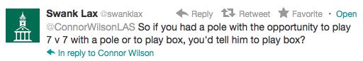 ConnorWilsonLAS SwankLax Box lacrosse tweets