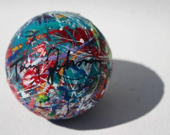 Art Lacrosse ball TOmmy Johnson Lax Artist