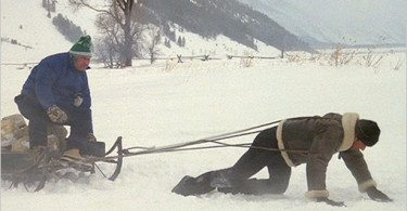ROCKY-4 training in russia sled paulie