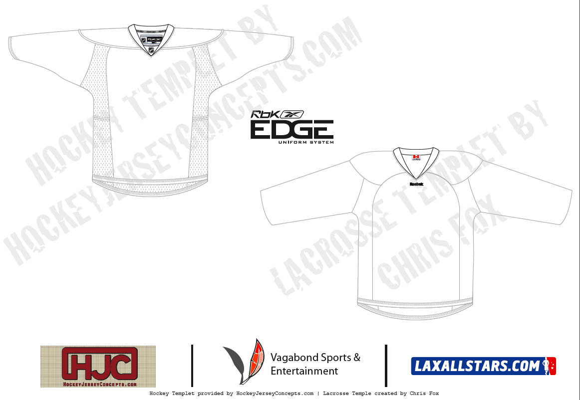 Reebok Hockey vs lacrosse jersey Edge Series