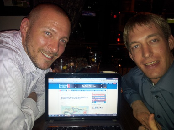 Mike and Andreas reading LAS in shanghai