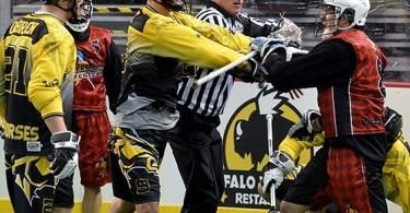 Kentucky Stickhorses box lacrosse NALL scuffle
