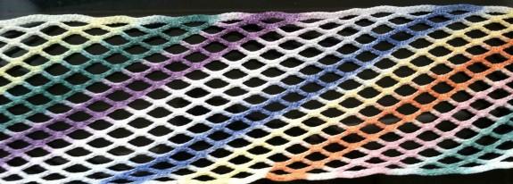 Rainbow dyed mesh