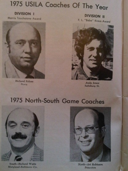 Official Collegiate Scholastic Lacrosse Guide 1975 Coaches