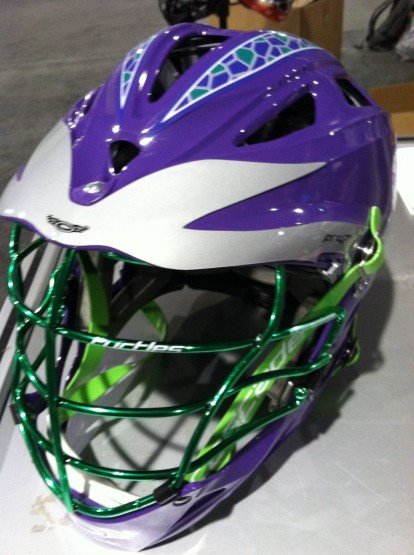Tenacious TUrtles helmet lacrosse green mask
