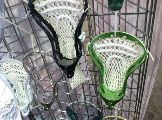 Metallic green lacrosse head