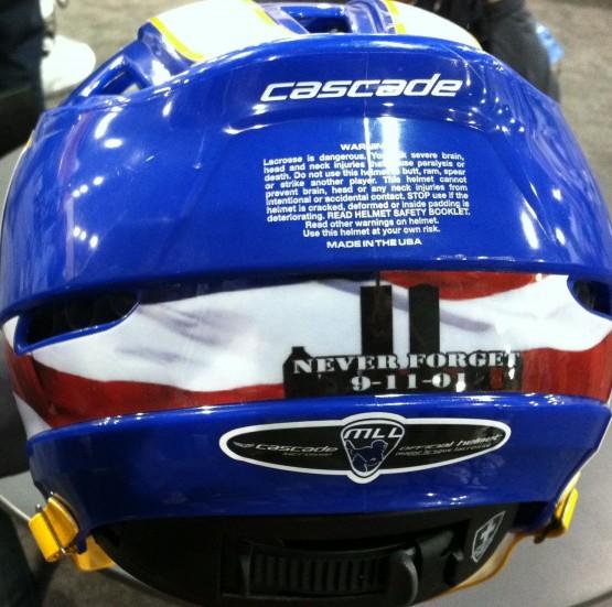 Hofstra Lacrosse helmet backpanel