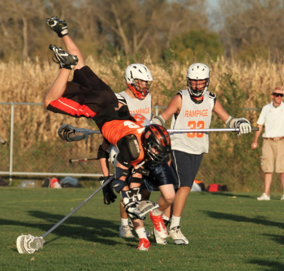 lacrosse dive head first