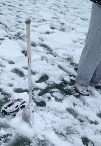 lacrosse excalibur in the snow maverik