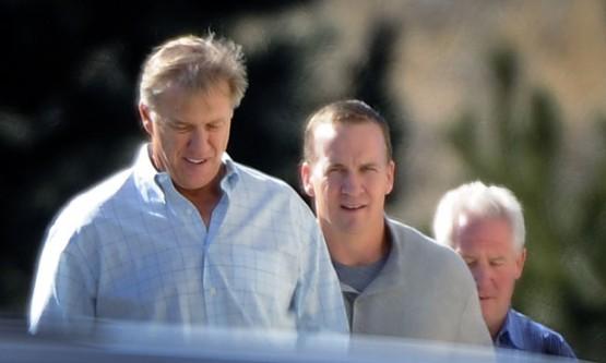 Peyron Manning with John Elway