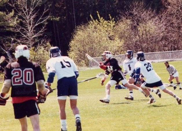 Bates Middlebury old school lacrosse
