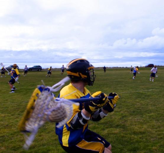 Leggett closeup defense lacrosse photo