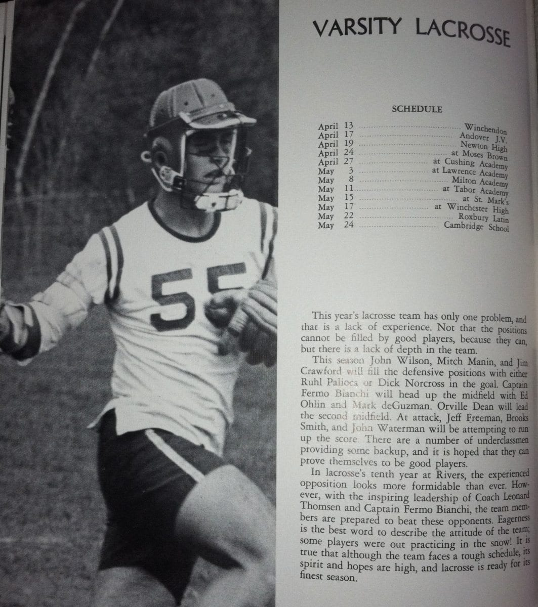 Rivers Lacrosse 1968