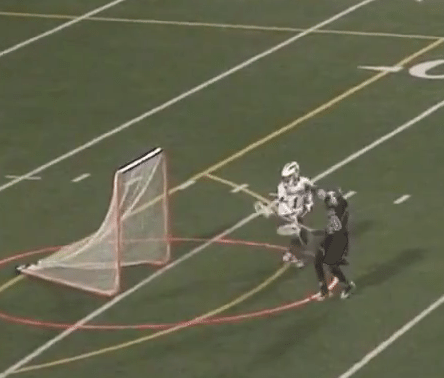 high school lacrosse goalie goal