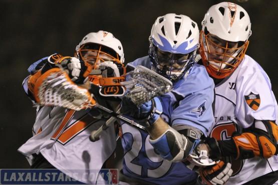 Splitting the defense Hop Princeton Lacrosse