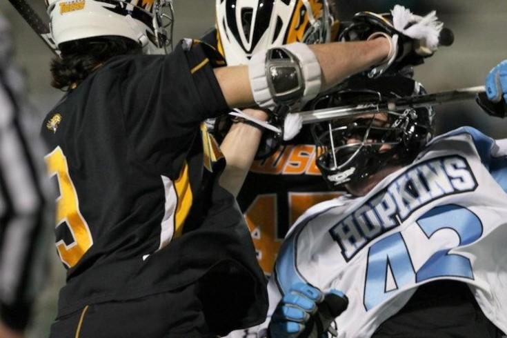 Towson Hopkins Lacrosse crosscheck