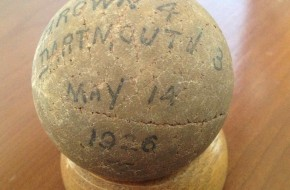 brown dartmouth lacrosse ball 1926