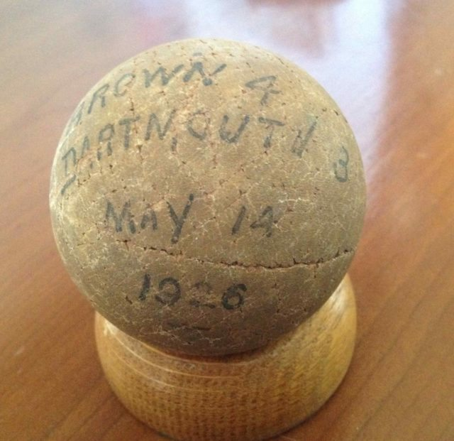 brown dartmouth lacrosse ball 1926