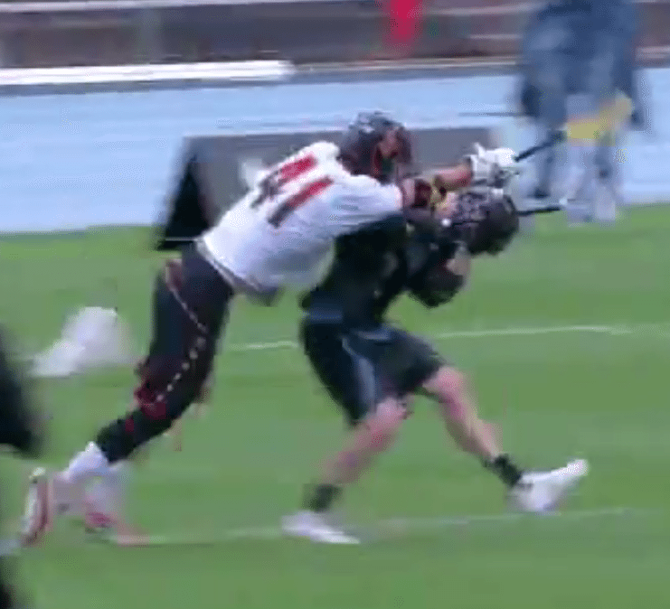 lacrosse crosscheck UNC Maryland
