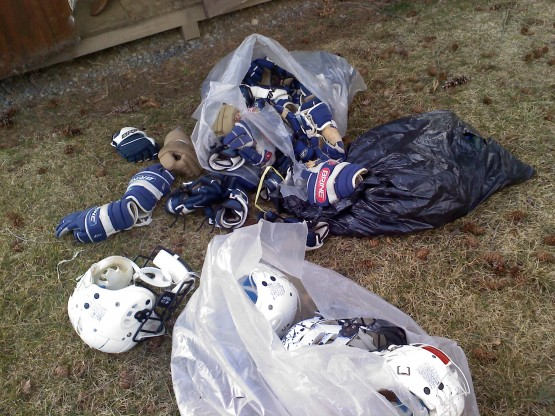 old lacrosse gear bags