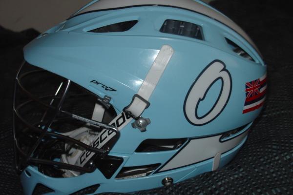 Onondaga Community College lacrosse helmet
