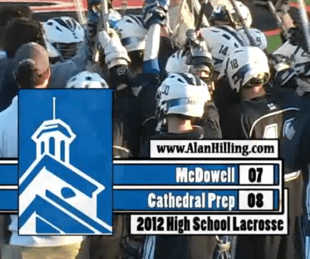 McDowell Cathedral Prep Erie Lacrosse high school