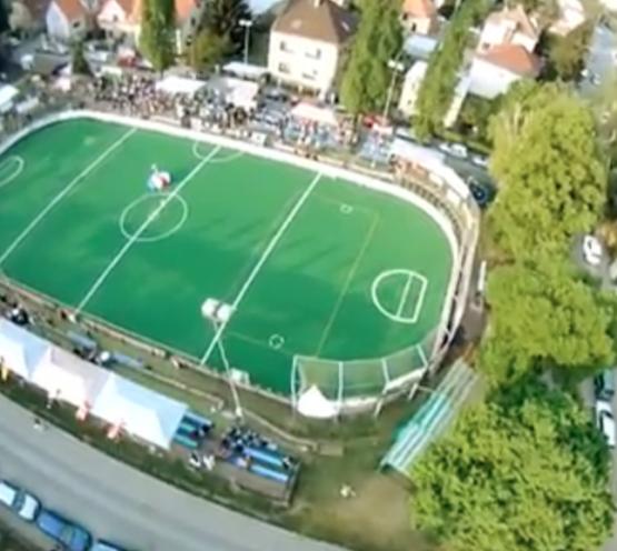 LCC Radotin box lacrosse arena outdoor Prague Czech Republic