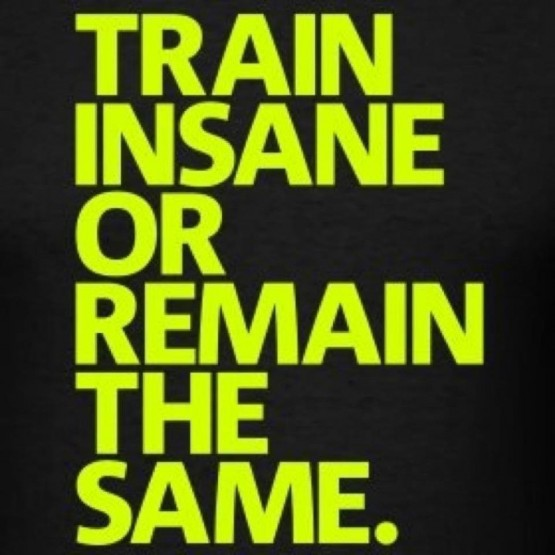Train Insane or Remain the Same.