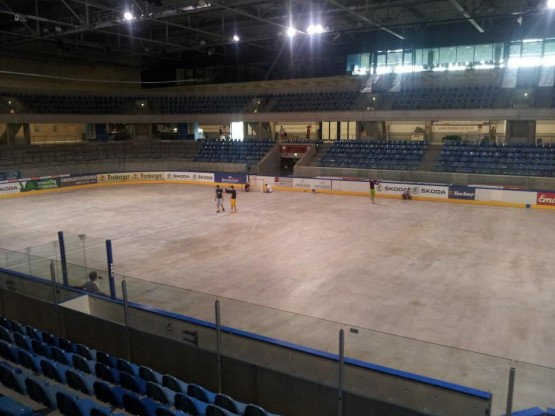 Dresden germany concrete hockey rink box lacrosse