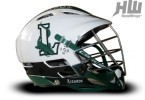 Long Island Lizards lacrosse helmet