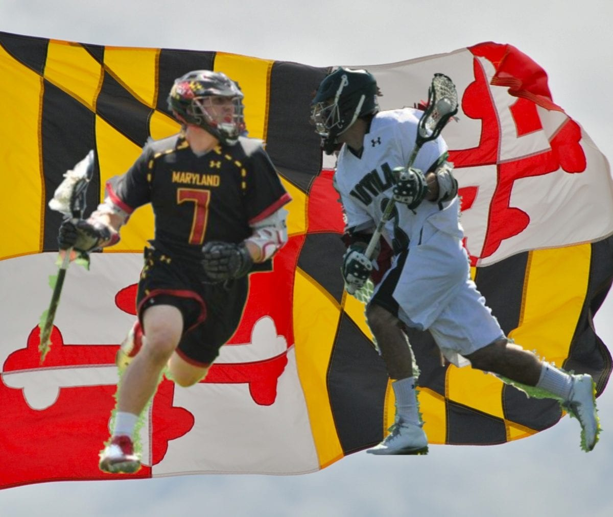 loyola vs maryland flag lacrosse