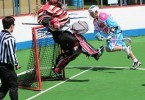 box lacrosse dive shot save