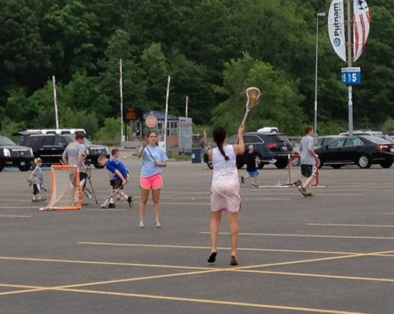 parking lot lacrosse
