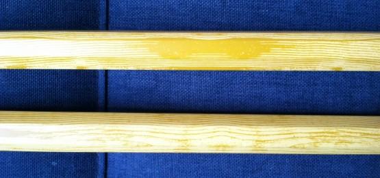 wood grain lacrosse shaft