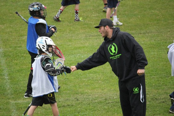 Joel White at Rhino Lacrosse Camp