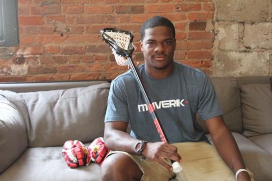 Jovan Miller repping Maverik Lacrosse