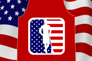 Lacrosse America Tank in Red