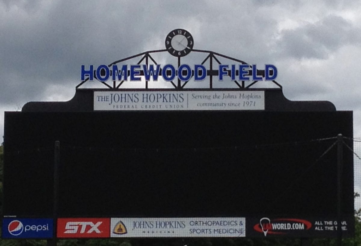 hopkins scoreboard homewood field