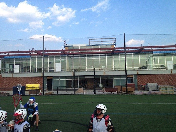 Hop's new lacrosse center coming along nicely!