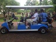 Giant Hop lax golf cart.