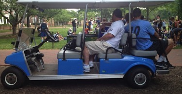 Giant Hop lax golf cart.