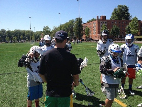 Explaining man to man defense to the young guns.