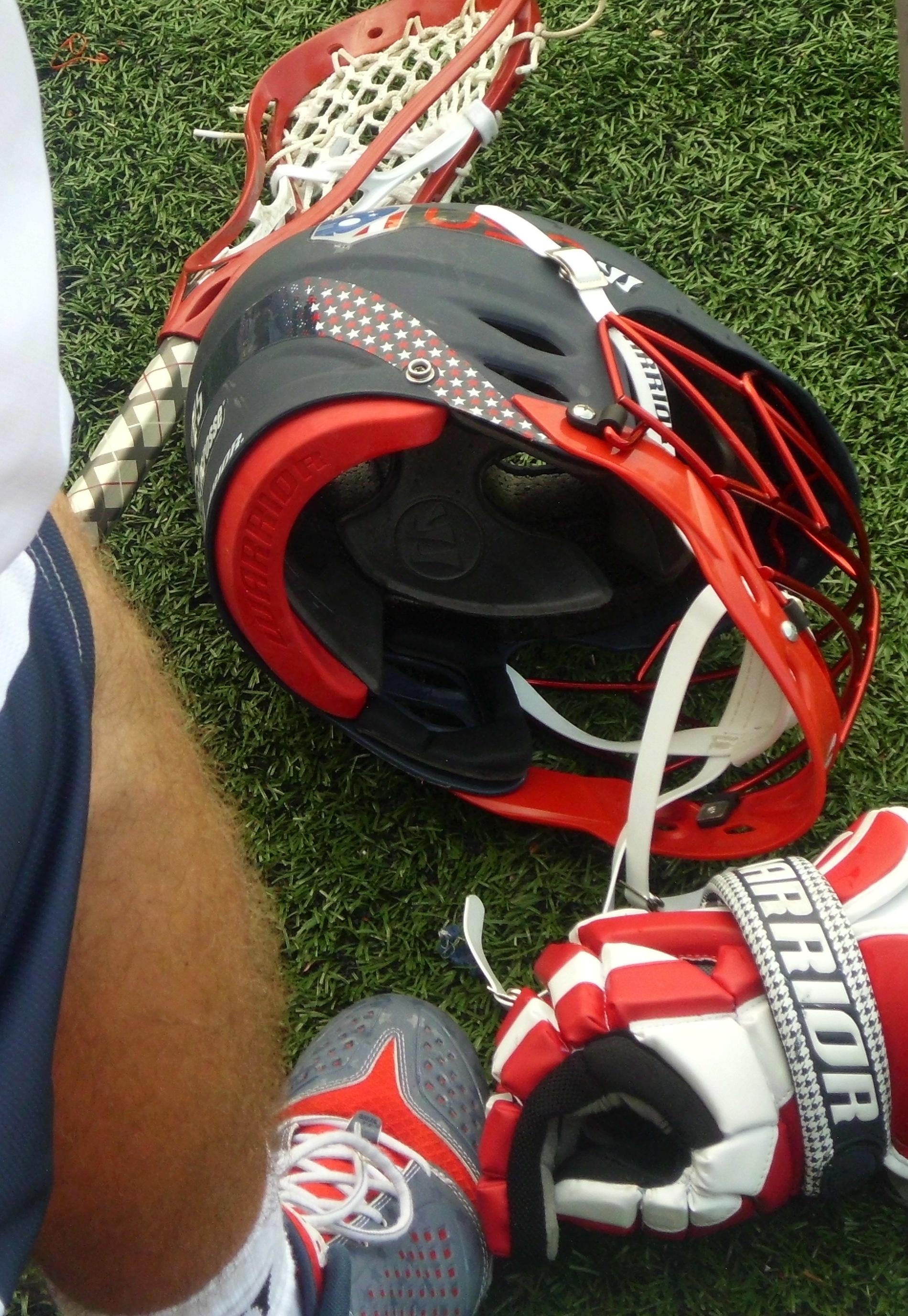usa u19 lacrosse helmet gloves shoes warrior lacrosse