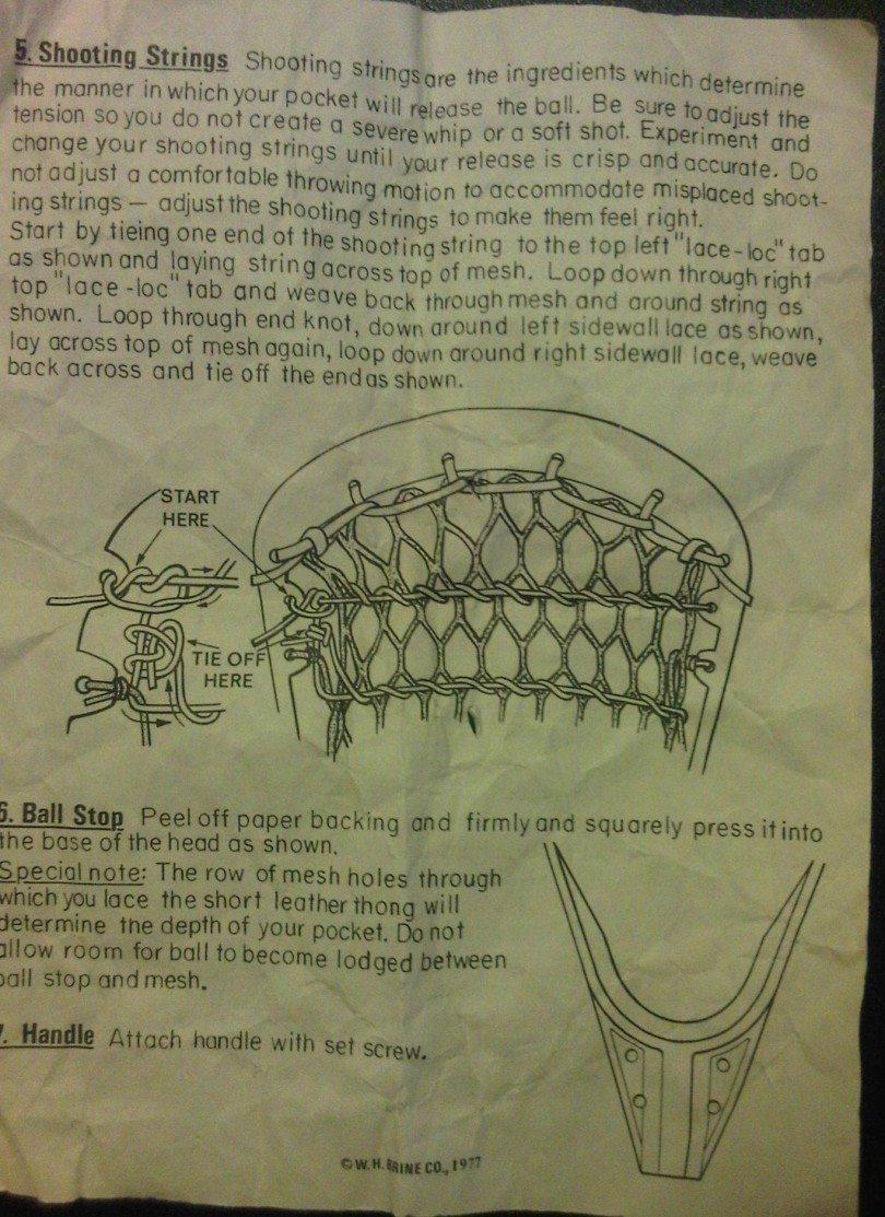 Vintage Mesh Stringing Kit Instructions