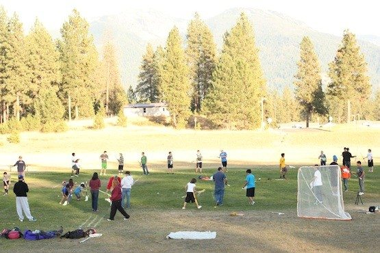 Lacrosse Clinic at Flathead Indian Reservation