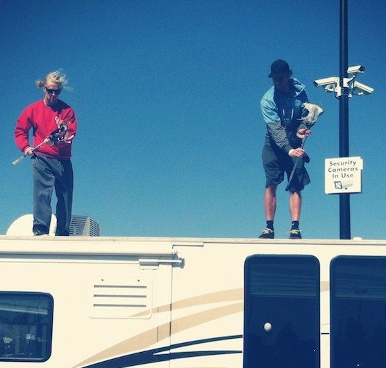 Lacrosse on top of an RV - Matt Gibson Henry Fitzpatrick