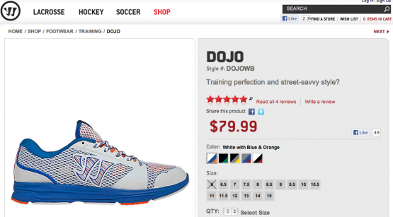 Dojo Training Shoes on Warrior.com